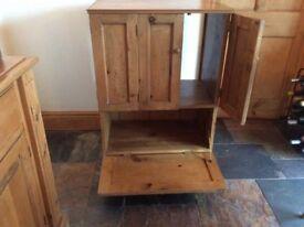 Pine cupboard/TV unit