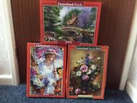 For Sale 3 x Jigsaw Puzzles - 1 owner - all pieces in boxes - recently completed