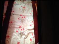 Poppy patterned lined curtains 2x pairs