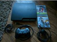 Ps3 slim 160gb with 2 games (fifa16 and battlefield 4)