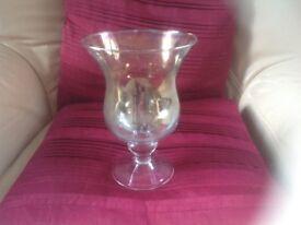 Green glass vase or candle holder