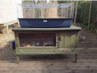 Used Rabbit/ Guinea Pig Hutch indoor and outdoor, good condition