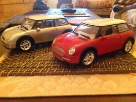2 Lorcin mini musical and moving toys cars