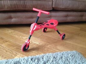Scuttlebug-Red-&-Black-Beetle-Ladybird-Toddler Ride On/Trike