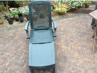 Sunlounger with Brand New Cushion