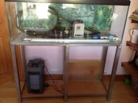 4foot aquarium, with accessories inc. lights filter and heater