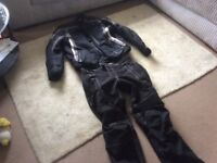 Motorcycle 2-piece protective Gortex motorcycle jacket and trousers