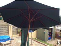 Large green umbrella