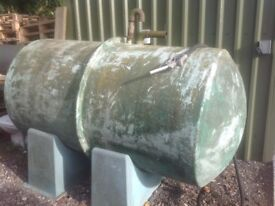 Diesel tank with hose and nozzle