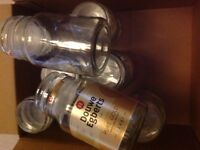 9x Empty Douwe Egberts Coffee Jars - Reuse, Upcycle, Christmas Crafts