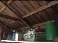 Wooden Shed 10 X 8 ft Shiplap Apex 1 door & 3 windows