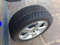 Unused tyre on Skoda Octavia wheel