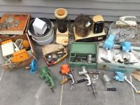 House and shed clearance joblot of vintage retro kitchenalia carboot