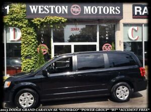 2013 Dodge Grand Caravan SE *STOW&GO *POWER GROUP *BT *DEALER MA