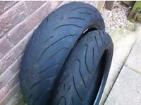 set of tyres 120/190 used angle tyres