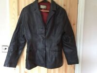 Ladies leather jacket size 14