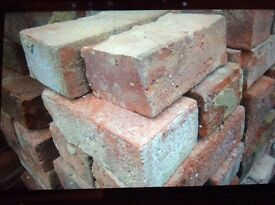 224 bricks possibly hand thrown and 112 fire bricks, all in good condition and cleaned, used inside.