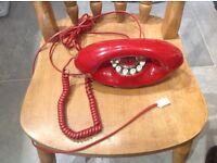 Retro telephone in red