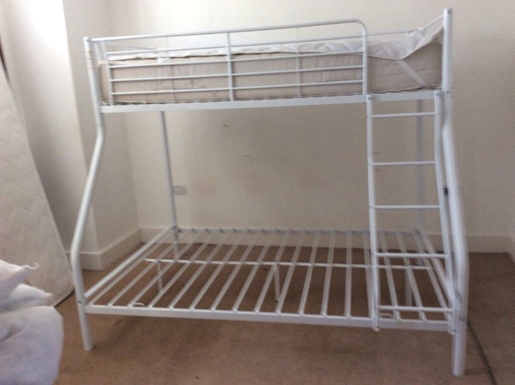 Metal Frame Bunk Bed Double Bottom And Single Top In Fareham