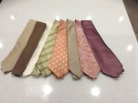 Selection of men's silk ties ,all in excellent conditon,a variety of colours and patterns
