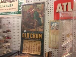 Rare 1952 Old Chum tobacco calendar
