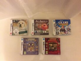 Set of 5 Nintendo DSi games, can be sold individually or selection, all in excellent condition