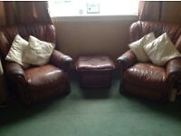 Italian designer leather suite for sale