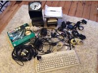 Assorted computer and phone accessories
