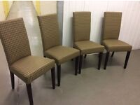 Four, New & Unused Dining Chairs.