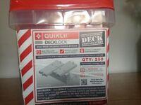 Deck lock . Board spacers