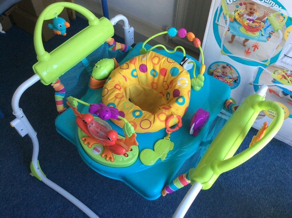 00c4a6316f69 Fisher-Price First Steps Step n Play Jumperoo. Bouncer Walker ...