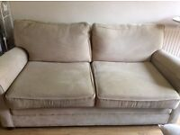 Large 2 seater Beige Sofa