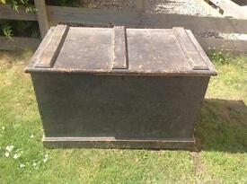 Large antique wooden chest