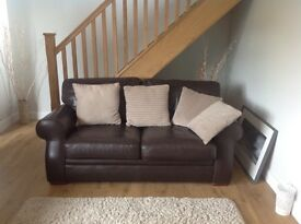 Medium size 2 seater sofa and single chair
