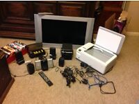 Job lot exlt condition tv printer iPhone doc &speekers x4 lots more see listing