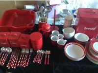 Huge Selection of Red Kitchen Items