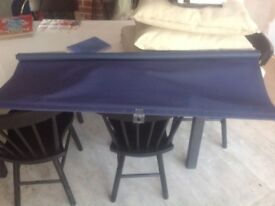 Like new black out roller blind DARK BLUE 120cm