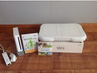 Wii Console, fitness board, Wii sports & Wii fit plus