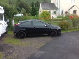 Stunning Ford Focus st 56 reg, panther black