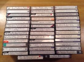 40 HOME RECORDED CASSETTES. ROCK AND POP.
