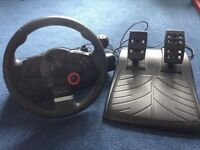 Logitech driving force GT steering wheel for PS3/ PC