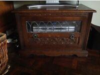 Old Charm solid oak TV cabinet. 76cm x 50cm high x 43 cm deep