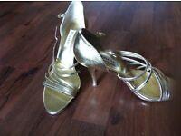 Size 3 Dune Gold Sandals