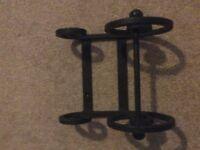 Blacksmith made wrought iron toilet roll holder