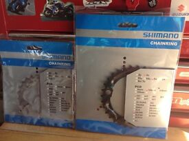 Shimano Chain Rings Brand New in Packages