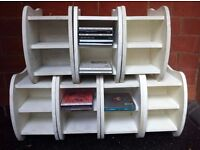 7 Modular Retro Cloud Design CD Racks Shelves Storage Units