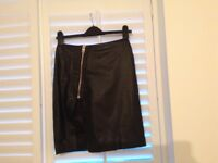 All Saints leather skirt size 8