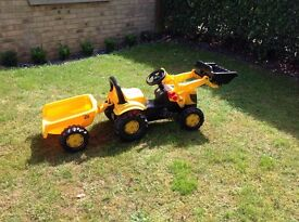 JCB sit on ride tractor