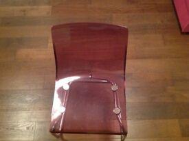 2 pink chairs Ikea Tobias model