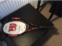 Wilson burn tennis racket.